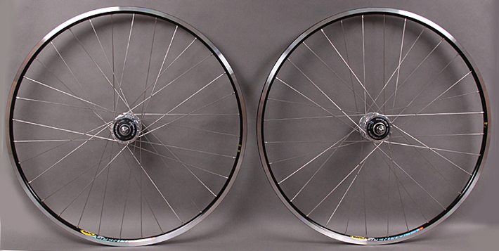 Mavic Open Pro Black rims - Dura Ace 32h Track hubs Black/Silver