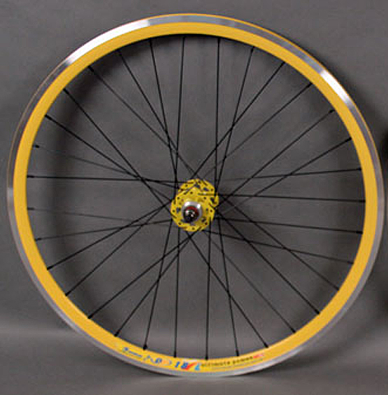 Weinmann DP18 Yellow Fixed Gear Track Bike REAR Wheel Machined