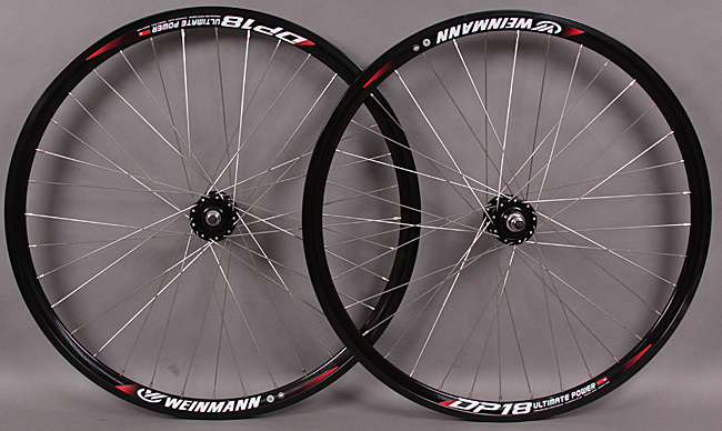 Weinmann DP18 BLACK 36h Formula Hub track fixed gear Wheelset