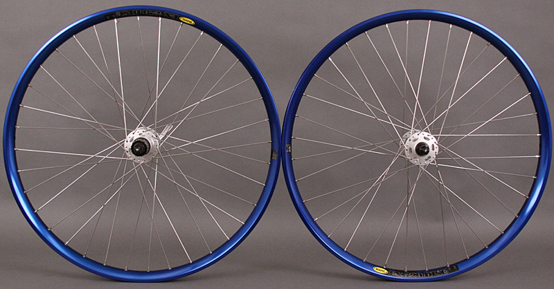 Mavic EX 729 Blue Rims Shimano XT 6 bolt Disc Brake Wheels