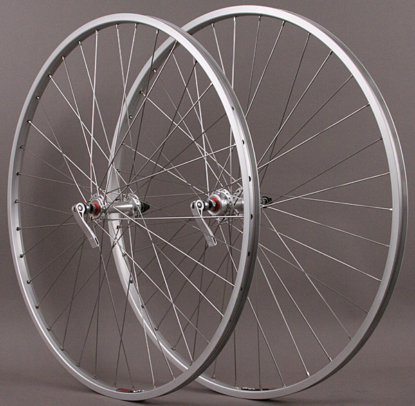 Sun CR18 700c 5,6,7 Speed Freewheel hubs Road Bike Wheels Silver