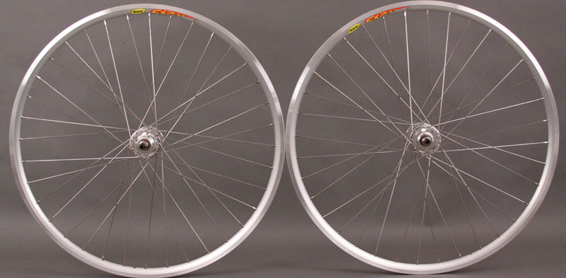 Mavic CXP 33 Track Fixed Singlespeed Wheelset Silver 36 Hole