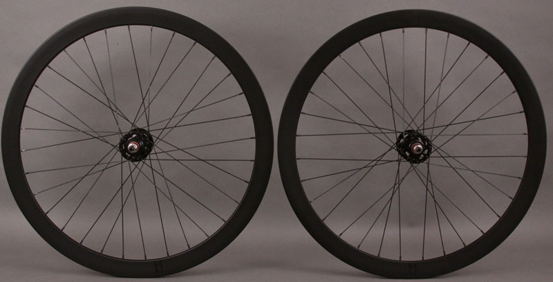 H + Son Formation Face Black Fixed Gear Wheelset 3x pattern 32 H