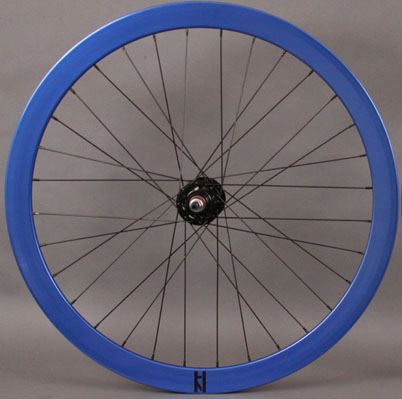 H + Plus Son Formation Face FRONT 32 Spoke Wheel Blue