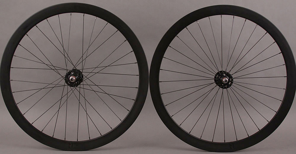 H + Son Formation Face Black Fixed Gear Wheelset radial f 3x r