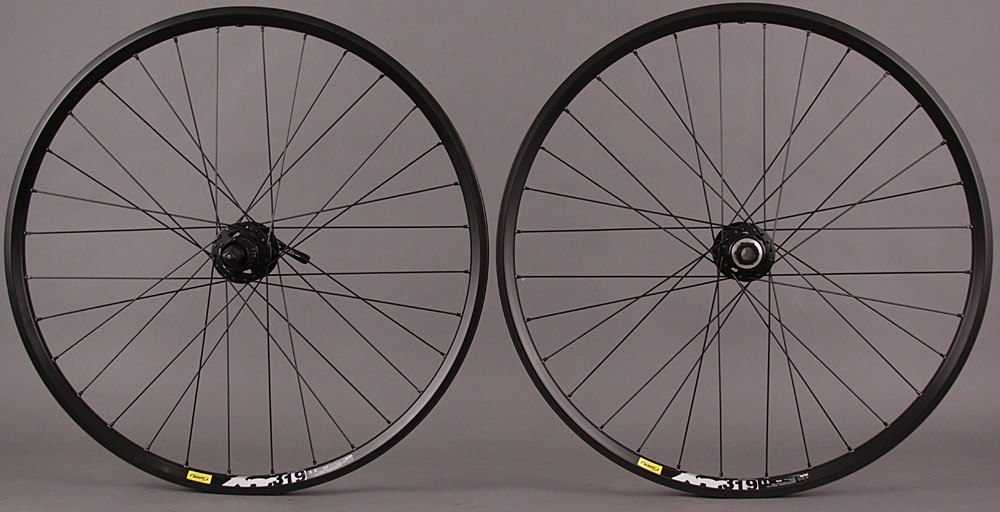 "Mavic XM319 26"" Wheelset XT Rear 15mm Front Hub 6 Bolt Disc 32H"