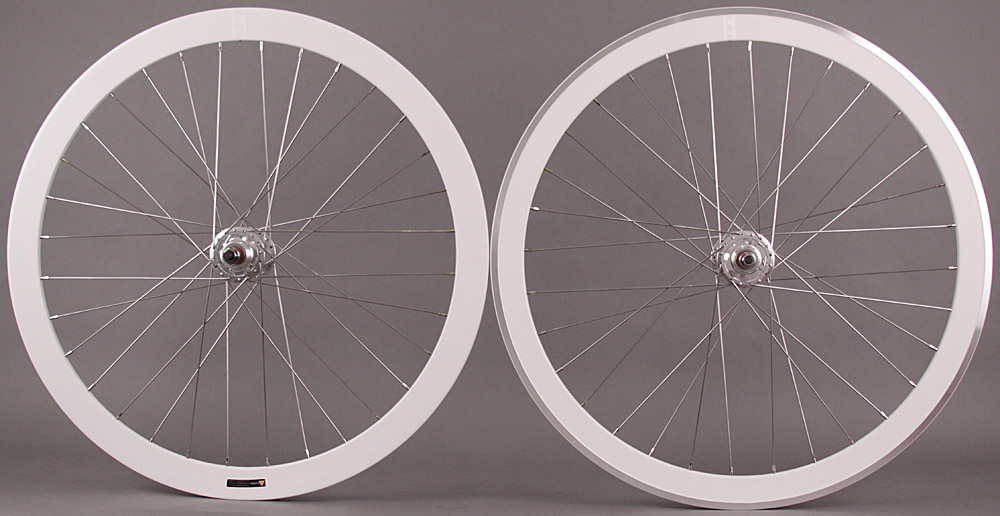 H Plus + Son SL42 front - Formation Face Rear White Wheelset