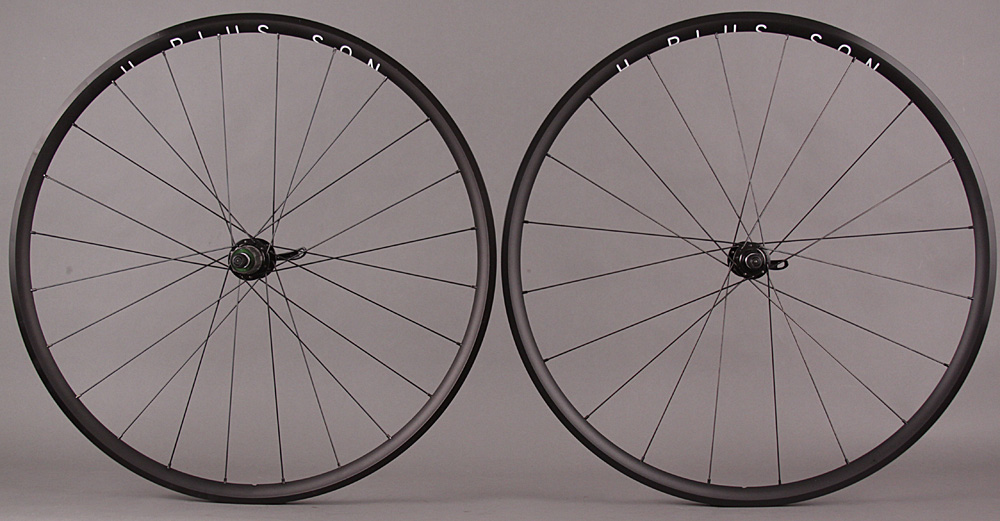 H Plus Son Archetype Black Road Bike Wheelset 8-11s 24h & 20h