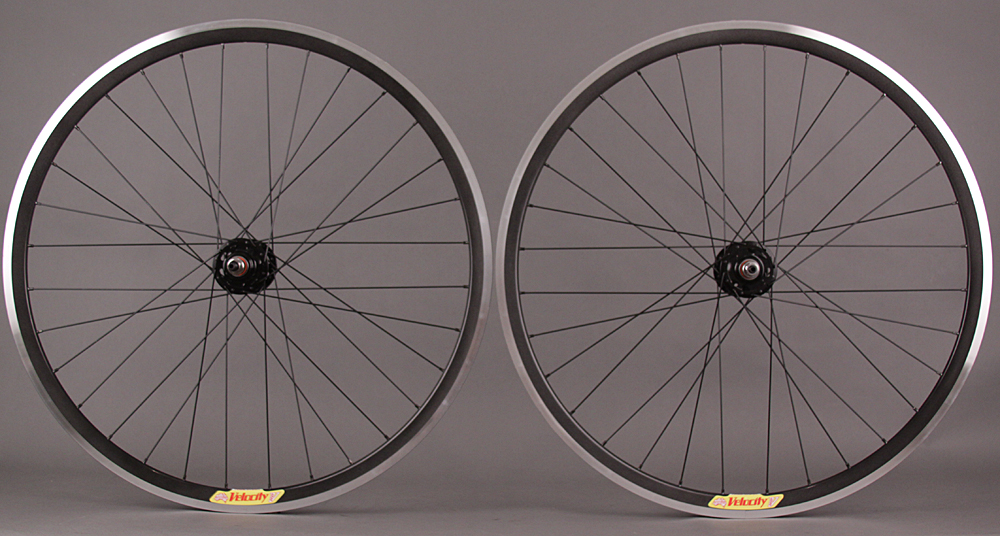 Velocity Deep V Halo Reflective Fixed Gear Singlespeed Wheelset