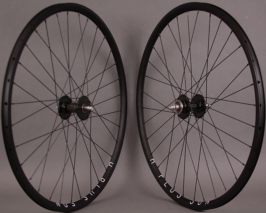 H Plus + Son Archetype Black Phil Wood Track hubs Wheelset