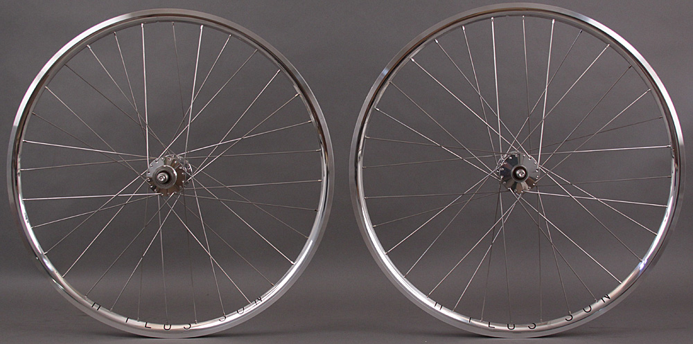 H Plus + Son Archetype Silver Phil Wood Track hubs Wheelset