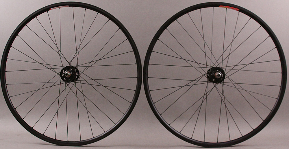 Velocity Aero rims black fixed gear wheelset non machined 32 H