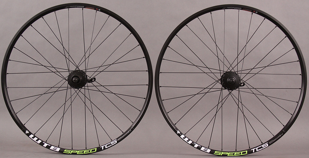 "WTB Speed TCS RACE Green 26"" Wheelset Shimano 6 Bolt Disc Hubs"