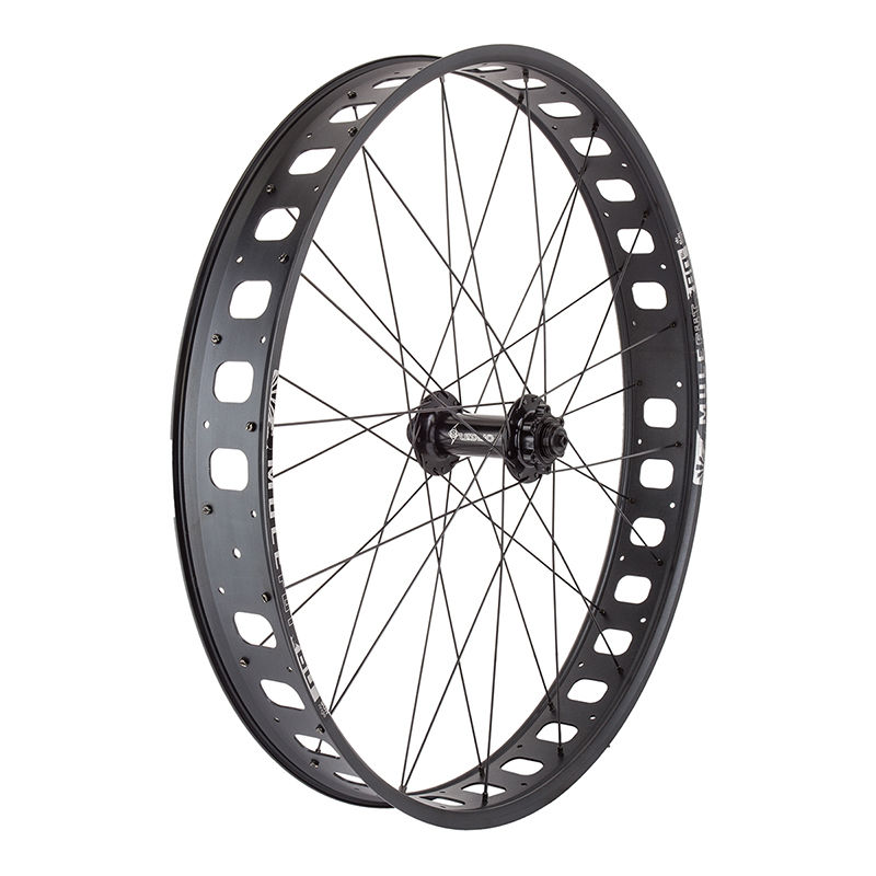 "Sun Mulefut Tubeless Fat Bike Front Wheel 135mm 4"" rim qr & Thru"