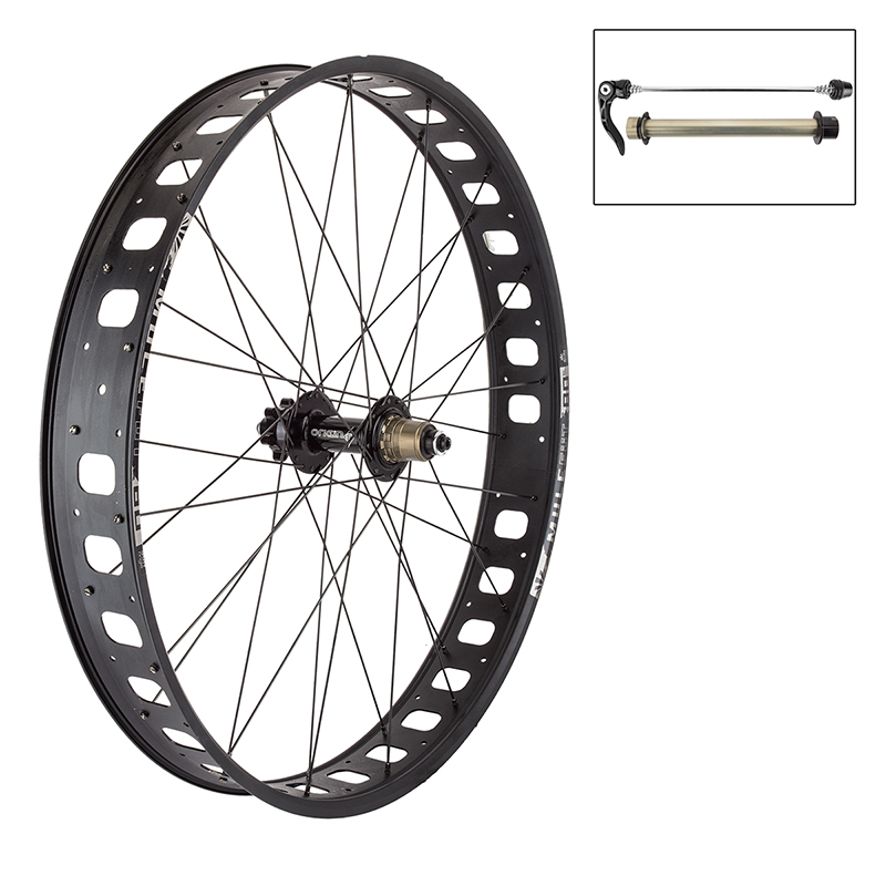 Sun Mulefut Tubeless Fat Bike Rear Wheel 170mm 26x4 Rims 11s XD