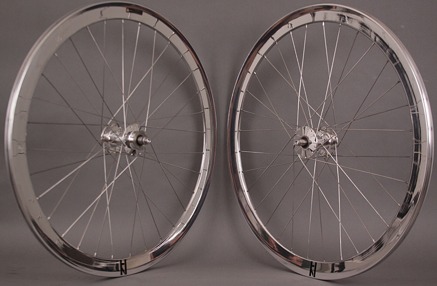 H Plus Son Formation Face Silver Phil Wood Track hubs Wheelset