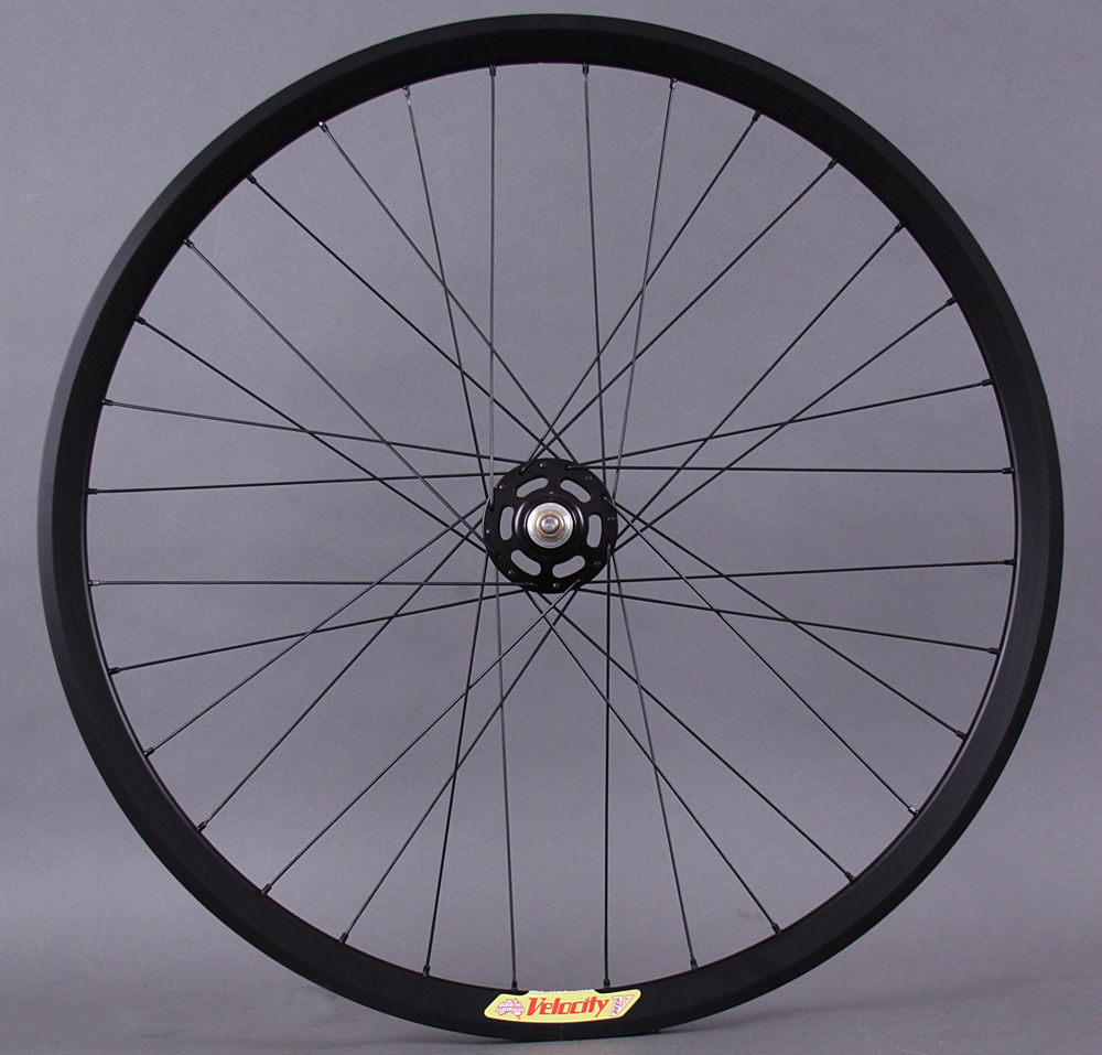 Velocity Deep V Black White Industries Track Hub Rear Wheel