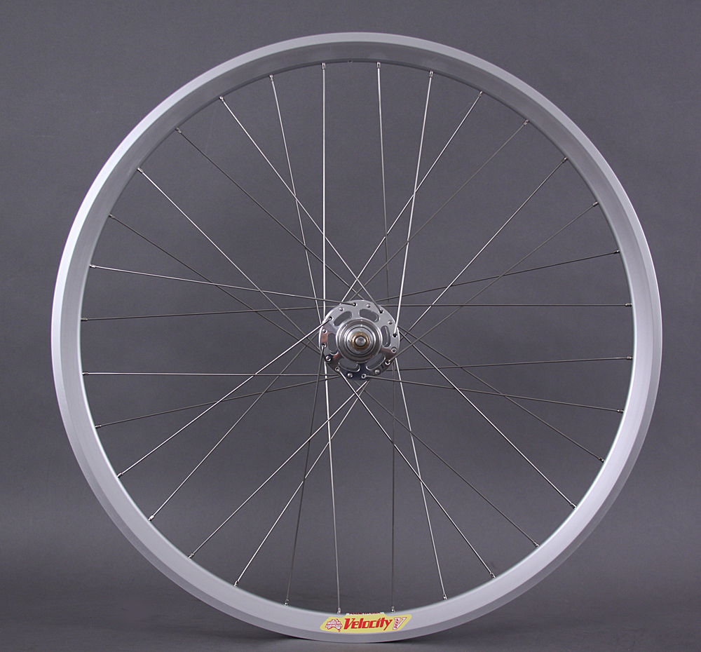 Velocity Deep V Silver White Industries Track Hub Rear Wheel