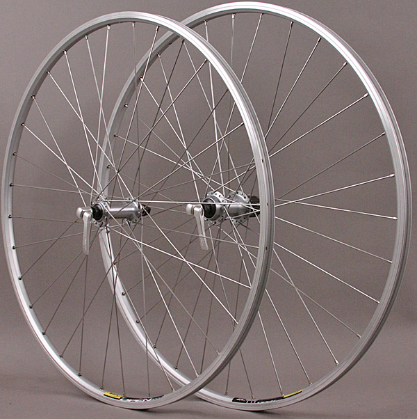 Mavic Open Sport Wheels 32h Silver Shimano 8 - 10 Speed DT, QR