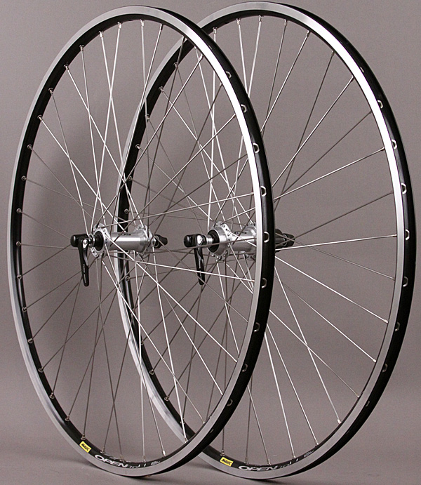 Mavic 36h Open Pro Black Rims Road Bike Wheelset 8-11 sp Shimano