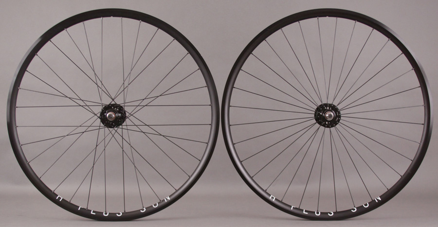 H + Plus Son Archetype Black Formula Track hubs Wheelset