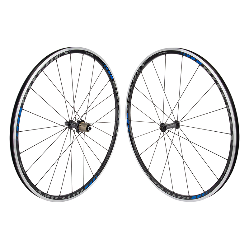 Ritchey Zeta Rims Black/Blue Road Wheelset 8-11 speed 20Ft/24R