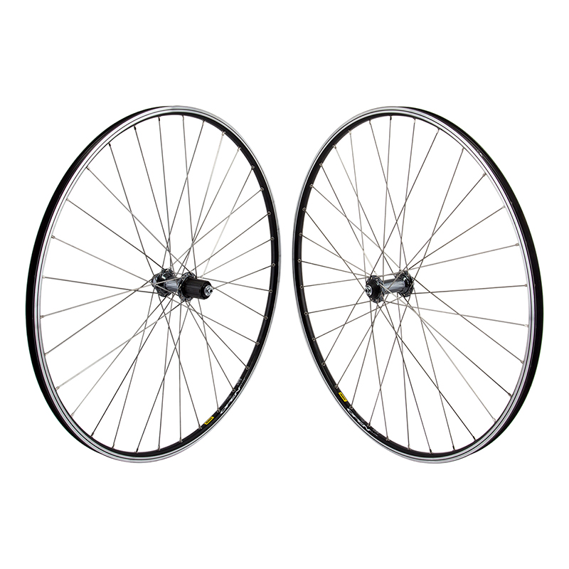 Mavic Open Elite Black Rims Road Bike Wheelset 8-11 speed 32H