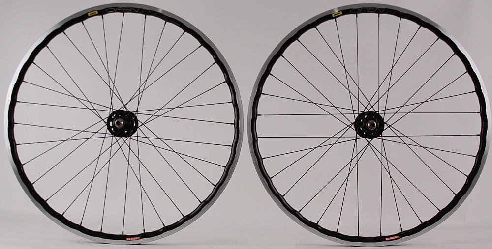 Mavic Open Pro Black UST Tubeless Track Fixed Gear Wheelset