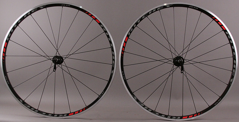 Ritchey Zeta Rims Black/Red Road Wheelset 8-11 speed 20Ft/24R