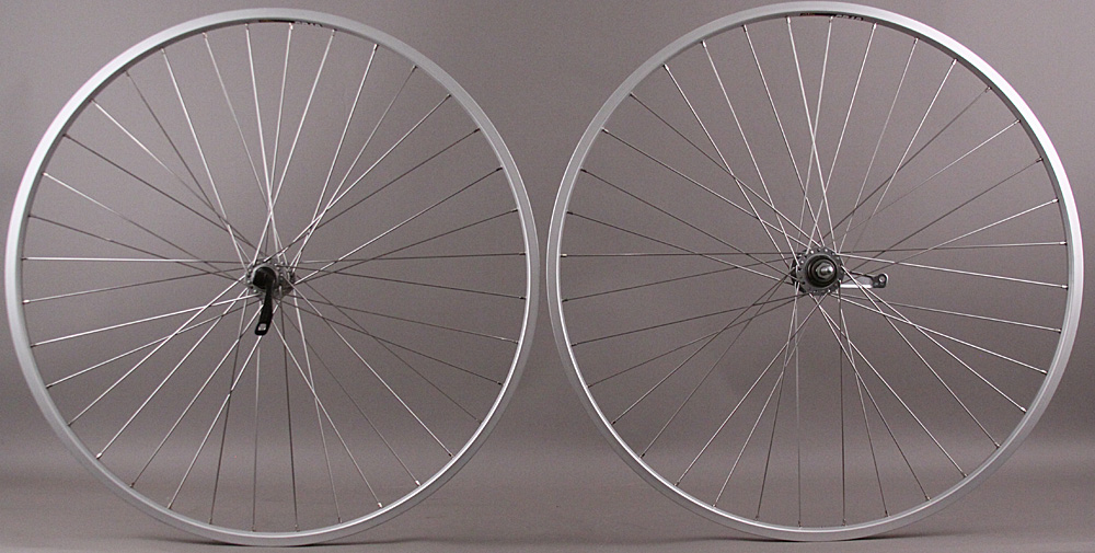 SUN CR18 Silver Shimano Coaster Brake Single Speed Wheelset