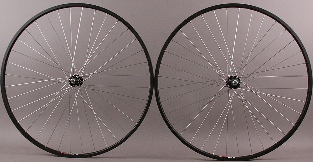 "Sun CR18 27"" 5,6,7 Speed Freewheel hubs Road Bike Wheelset Black"