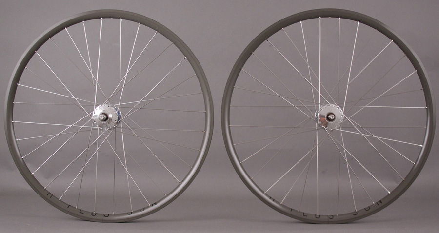 H Plus + Son Archetype Hard Anodized Phil Wood hubs Wheelset