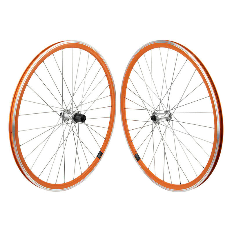 Mach1 430 Road Bike Wheelset 32h 8-10 Speed Shimano Orange