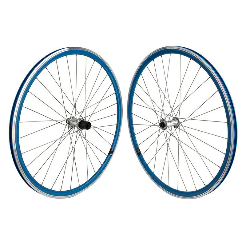 Mach1 430 Road Bike Wheelset 32h 8-10 Speed Shimano BLUE