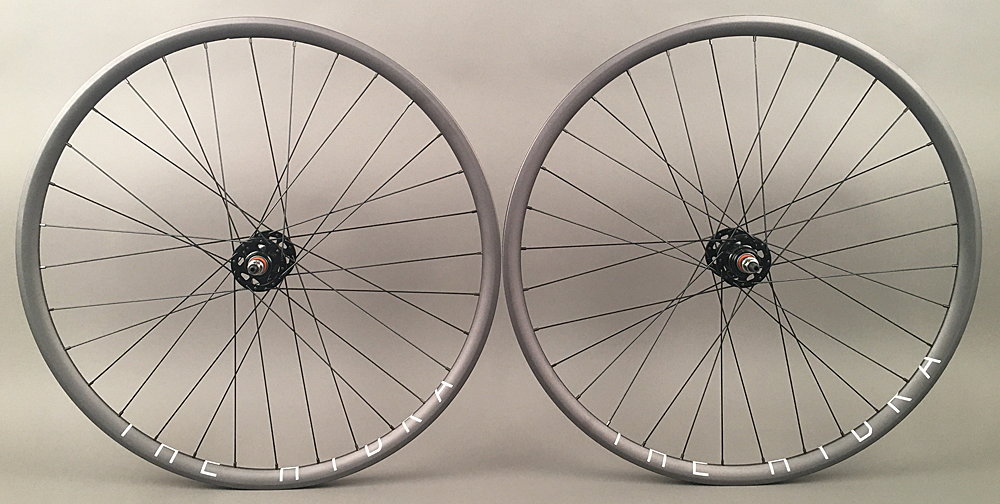 H + Plus Son Hydra Grey 32h Formula Track Hubs Wheelset NMSW