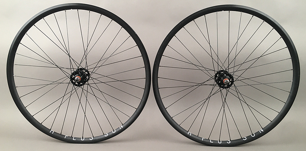H + Plus Son Archetype Track Bike Wheelset 3x DT Competition 36h