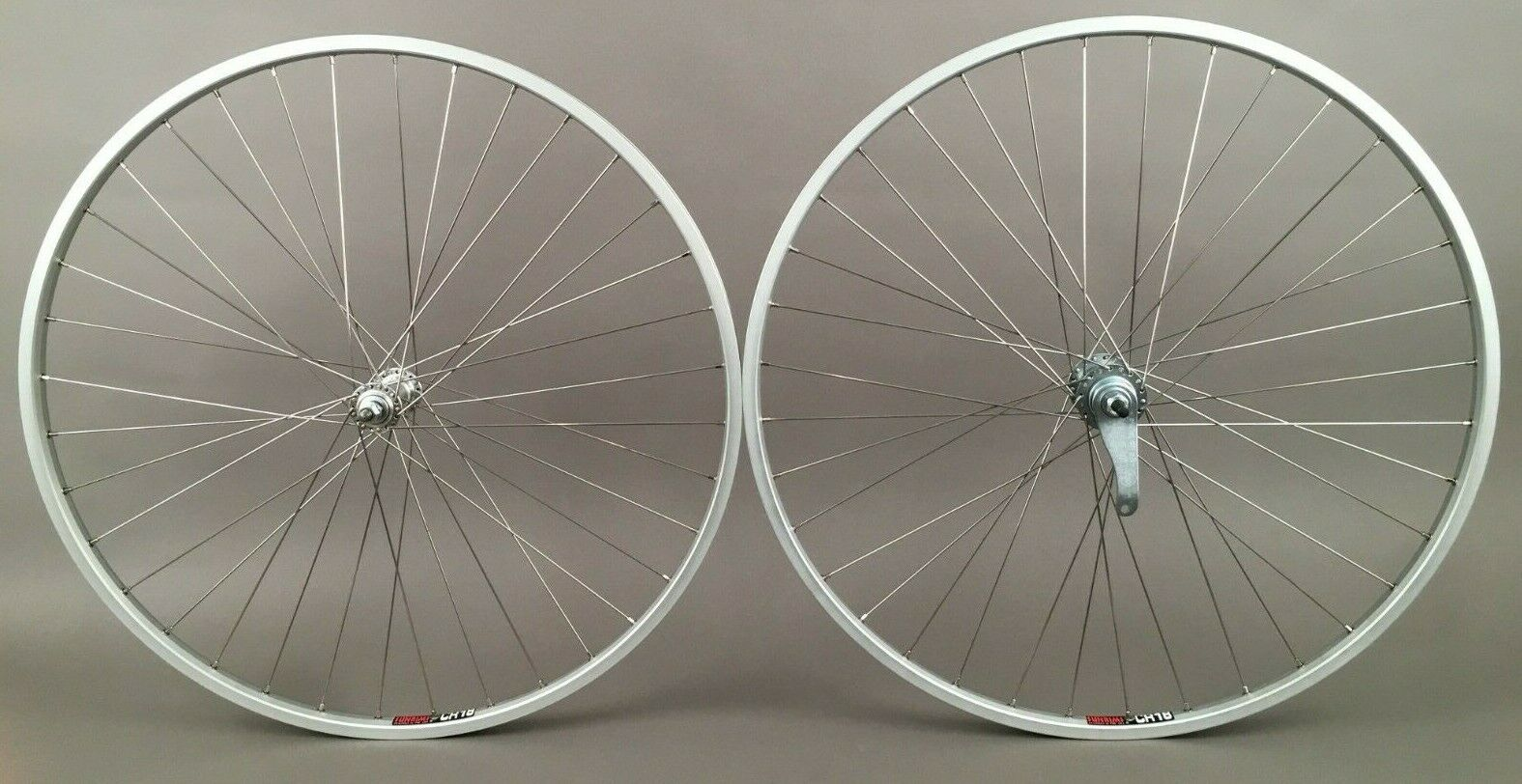 SUN CR18 Silver Rims Coaster Brake Single Speed Wheelset