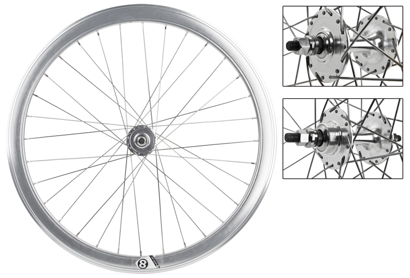 Origin8 Silver 32h Track Bike Fixed Gear Aero Wheelset 42mm