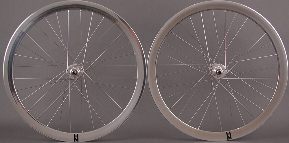 H Plus Son Formation Face Wheelset Polished Silver Formula Hubs