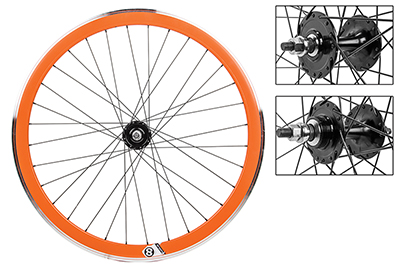 Origin8 Orange 32h Track Bike Fixed Gear Aero Wheelset 42mm