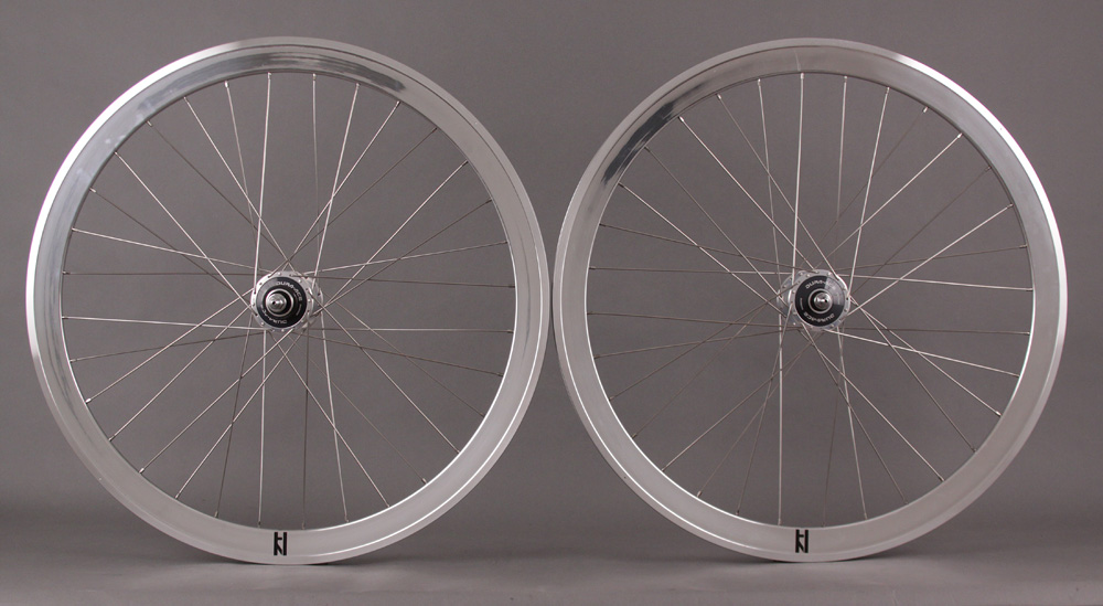 H Plus + Son SL42 Silver Fixed Wheelset MSW Shimano 7600 32H