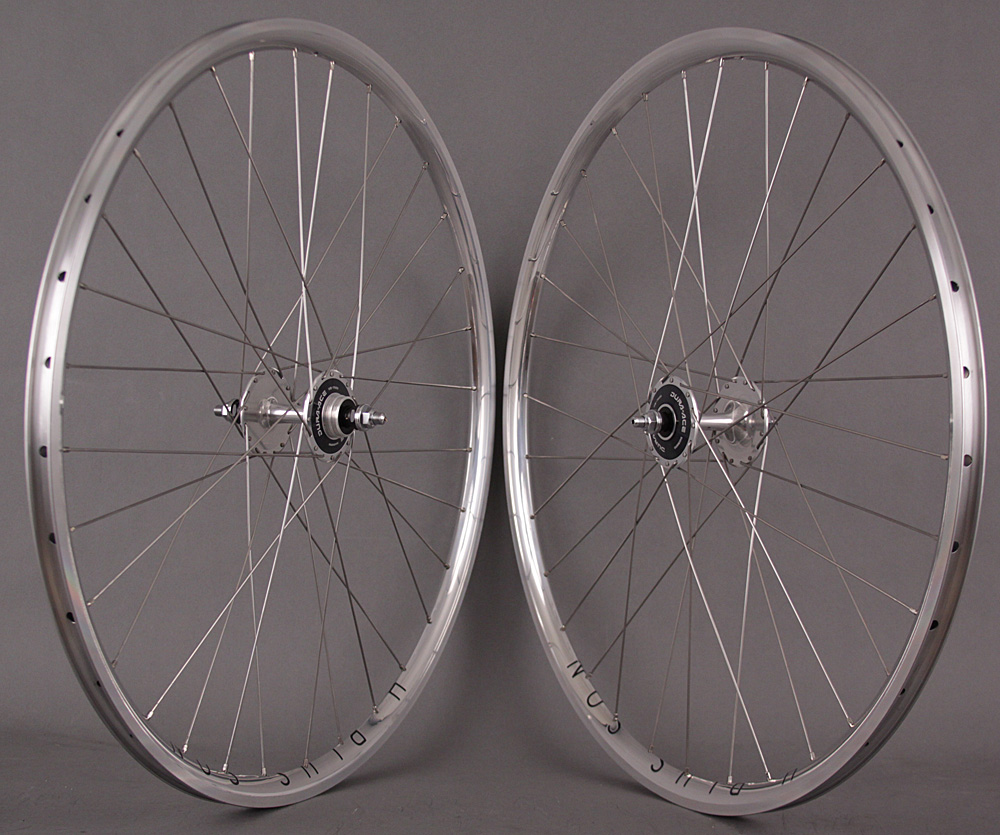 H Plus Son Archetype Silver Dura Ace 7600 Track Hubs Wheelset