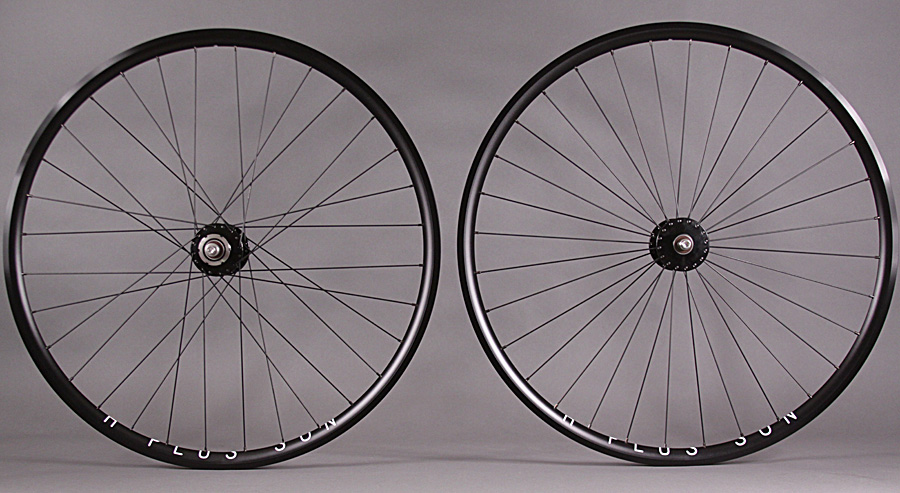 H Plus + Son Archetype Black Phil Wood Wheelset Radial Front
