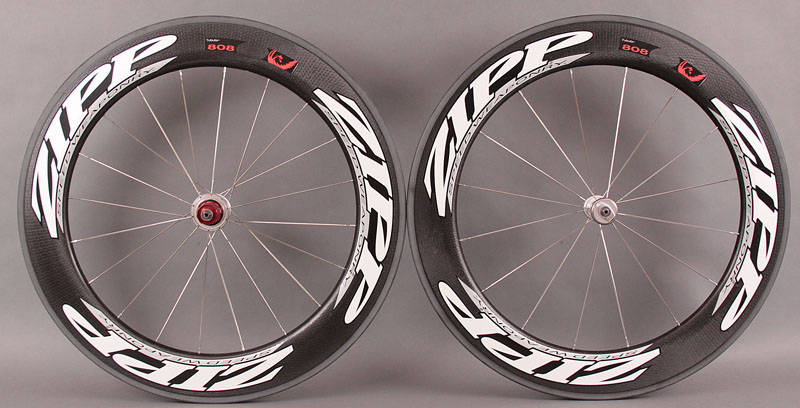 2011 Zipp 808 Firecrest Tubular Road Bike Wheelset 1519g