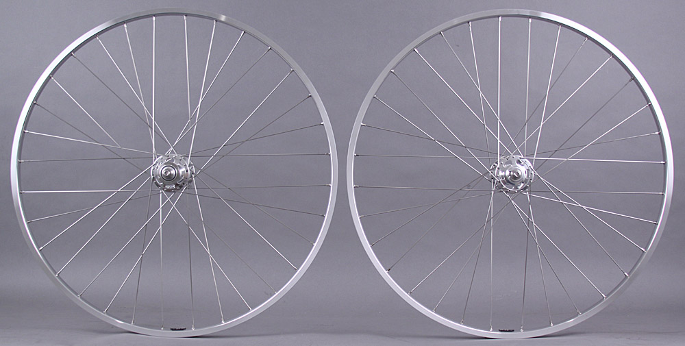 H Plus Son tb14 Silver Singlespeed Track Wheelset Paul Hubs