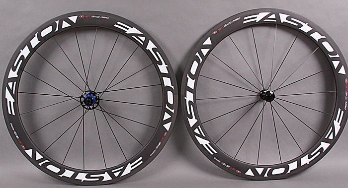 2011 Easton EC90 Aero 56mm Carbon Clincher Wheelset Shimano SRAM