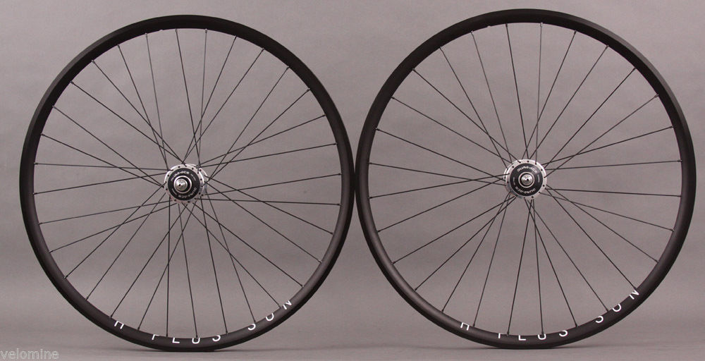H Plus Son Archetype Wheelset Black Dura Ace 7600 Hubs DT Comp
