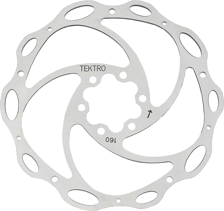 Tektro Lyra 6 Bolt Disc Brake Rotor with bolts 160mm Road CX MTN