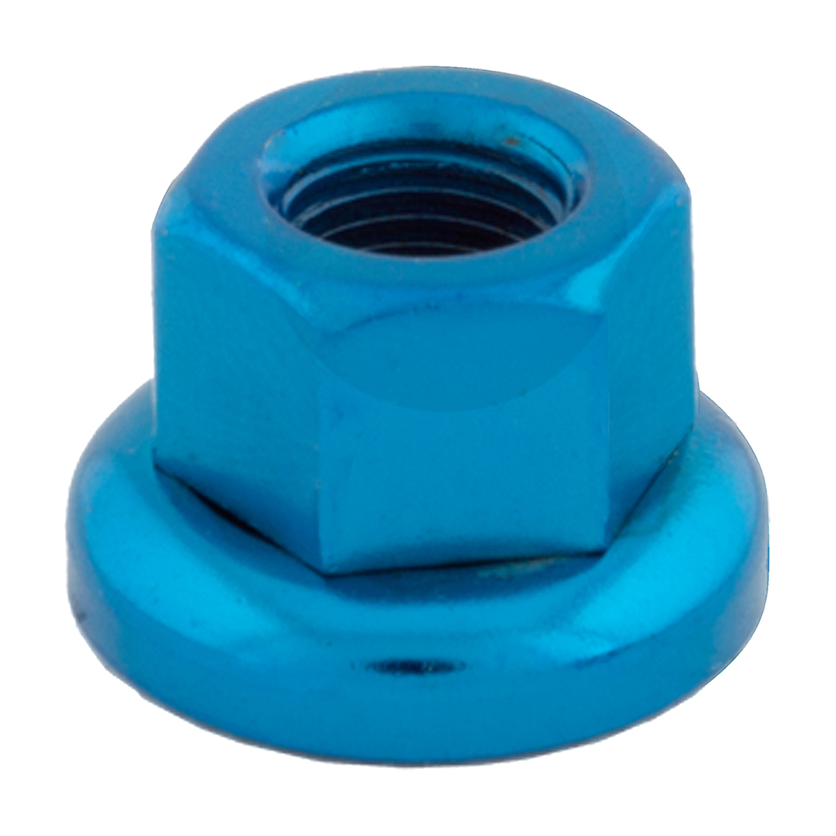 Track Axle nuts Blue M10 x 1 Chromoly Pair for Rear Hub