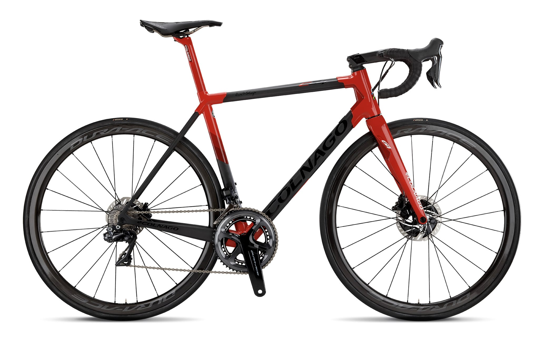 2018 Colnago C64 Disc Frameset and Fork PJRD Black/Red